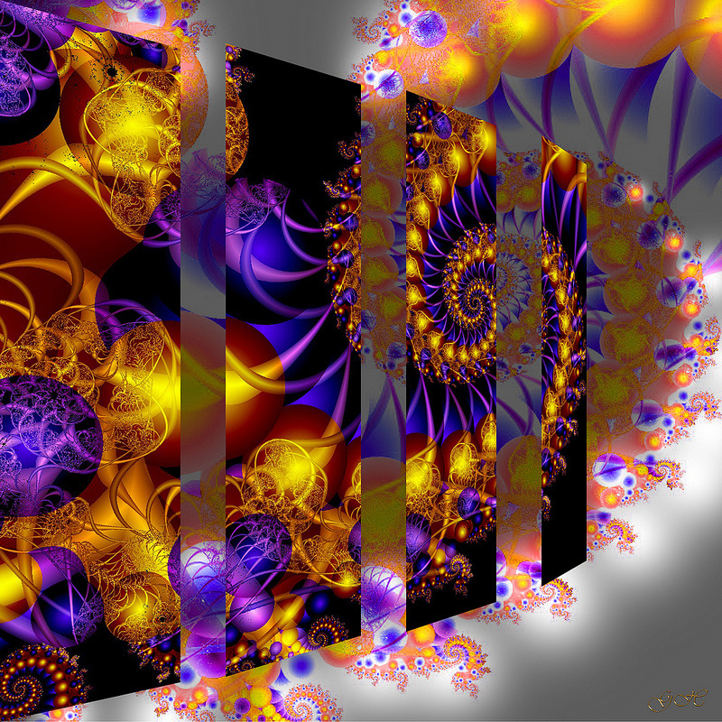 fractal art, abstract art, color art